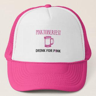 Pinktoberfest Drink for Pink Trucker Hat