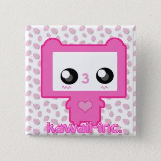 Pinku Mecha 15 Cm Square Badge