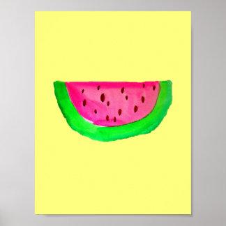 PinkWatermelon Pop Art painting poster