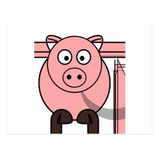 Pinky pig postcard