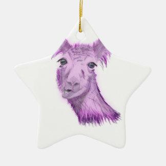 Pinky Posh Llama Ceramic Ornament