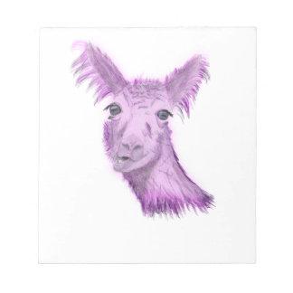 Pinky Posh Llama Notepad