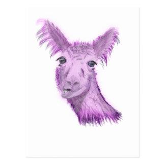 Pinky Posh Llama Postcard