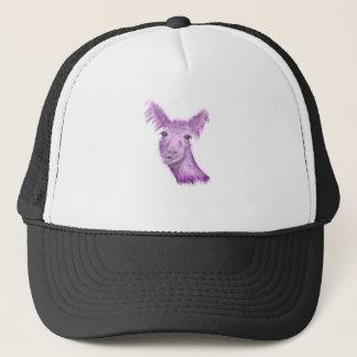 Pinky Posh Llama Trucker Hat