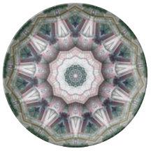 Pinky Spirals Porcelain Plates