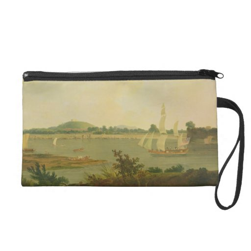 Pinnace Sailing Down the Ganges past Monghyr Fort, Wristlet Clutches