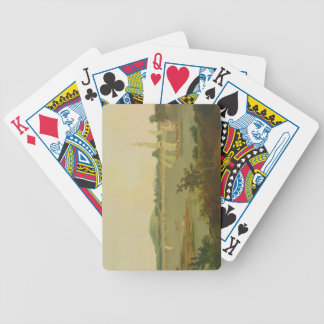 Pinnace Sailing Down the Ganges past Monghyr Fort, Bicycle Poker Cards