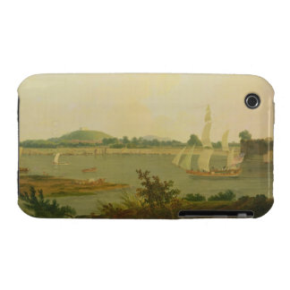 Pinnace Sailing Down the Ganges past Monghyr Fort, iPhone 3 Cases
