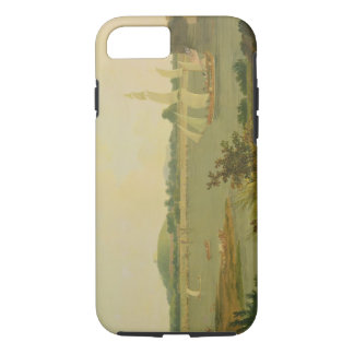 Pinnace Sailing Down the Ganges past Monghyr Fort, iPhone 7 Case