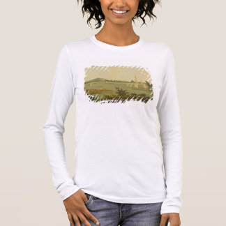 Pinnace Sailing Down the Ganges past Monghyr Fort, Long Sleeve T-Shirt