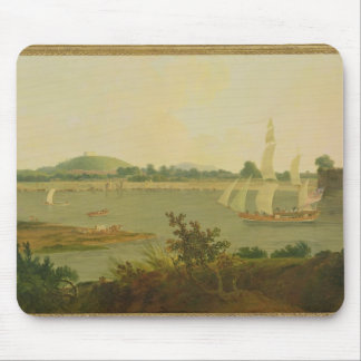Pinnace Sailing Down the Ganges past Monghyr Fort, Mouse Pad