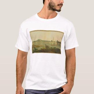 Pinnace Sailing Down the Ganges past Monghyr Fort, T-Shirt