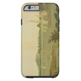 Pinnace Sailing Down the Ganges past Monghyr Fort, Tough iPhone 6 Case