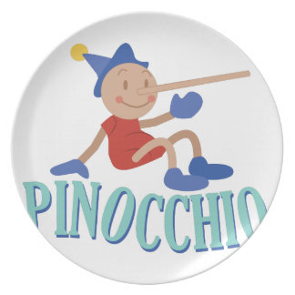 Pinnocchio Party Plate
