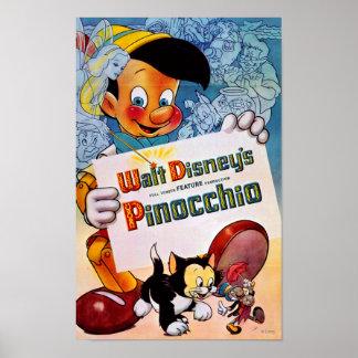 Pinocchio and Figaro Poster