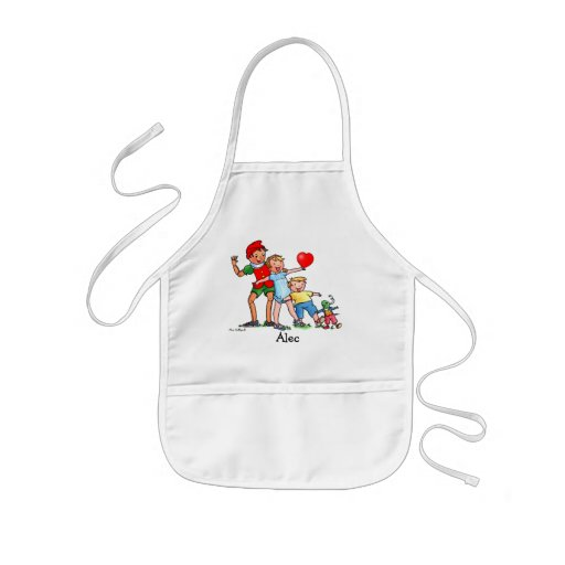 Pinocchio and Friends Heart  - Kids Apron
