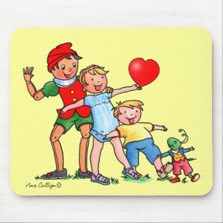 Pinocchio and Friends Love Mousepad