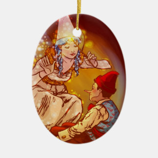 Pinocchio Ceramic Oval Decoration