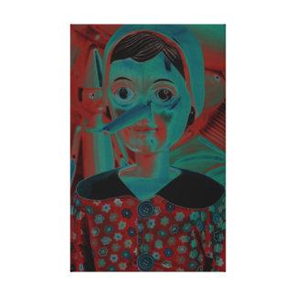 Pinocchio Girl Collectible Canvas Print