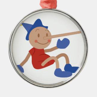 Pinocchio Metal Ornament