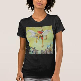 Pinocchio on pigeon. shirts