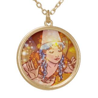 Pinocchio Round Pendant Necklace