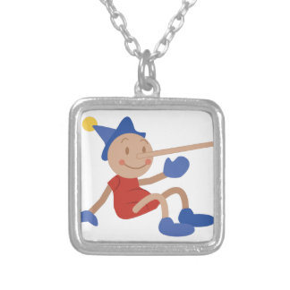 Pinocchio Silver Plated Necklace