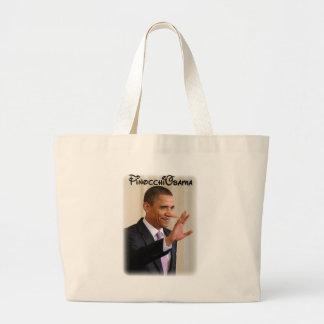 PinocchiObama Jumbo Tote Bag