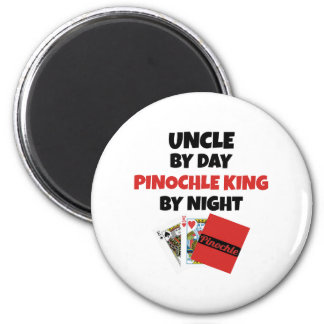 Pinochle King Uncle 6 Cm Round Magnet