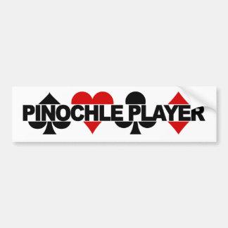 Pinochle Player bumpersticker Bumper Sticker