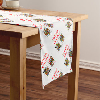 pinochle short table runner