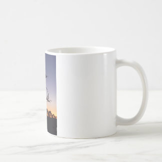 Piñon at sunset coffee mug