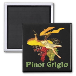 Pinot Grigio Wine Maid Square Magnet