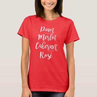 Pinot Merlot Cabernet Rosé Wine T-Shirt