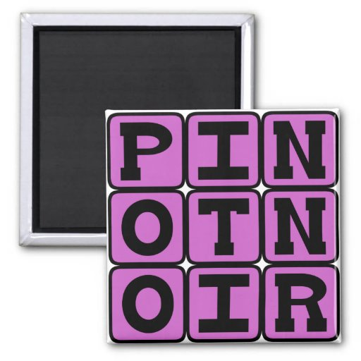 Pinot Noir, Red Wine Refrigerator Magnet