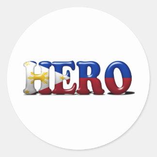 Pinoy Hero Classic Round Sticker