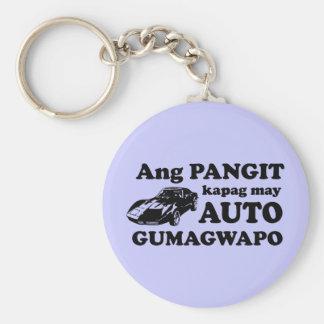 Pinoy Humor: Ang Auto at ang Gwapo Basic Round Button Key Ring