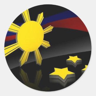 pinoy pride classic round sticker