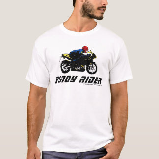 Pinoy Rider with RP flag themed colors T-Shirt