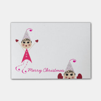 PinQshue Elves Merry Christmas Post-its Post-it Notes