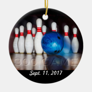 Pins and Ball 300 game ornament