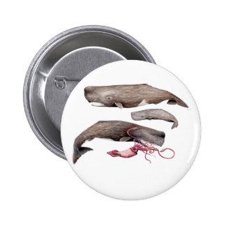 Pins, broaches, plates round Cachalote Card trio 6 Cm Round Badge