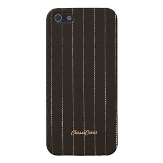 Pinstripe Brown Pattern Savvy Cover For iPhone 5