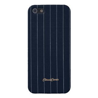 Pinstripe Deep Blue Pattern Savvy Cover For iPhone 5