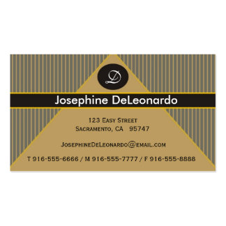 Pinstripe Gold Business Cards
