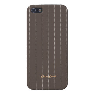 Pinstripe Gray Brown Pattern Savvy Cover For iPhone 5