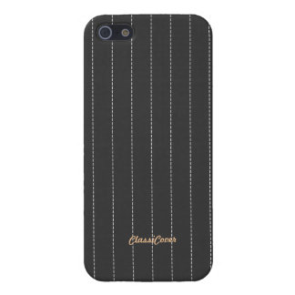 Pinstripe Gray Pattern Savvy Covers For iPhone 5