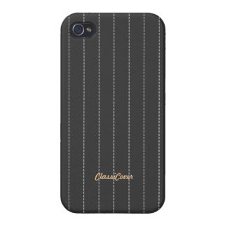 Pinstripe Gray Pattern Savvy iPhone 4/4S Cases