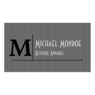 Pinstripe Monograms Business Card Templates