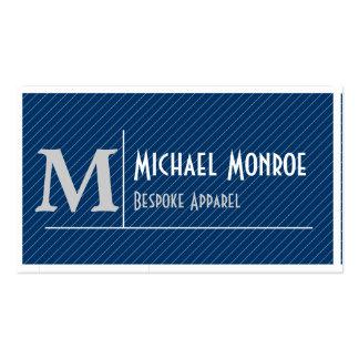 Pinstripe Monograms Business Cards